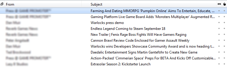 The average inbox for a games journalist.