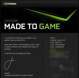 NVIDIA invite