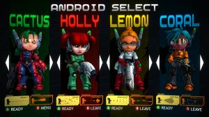 Some of the playable characters.