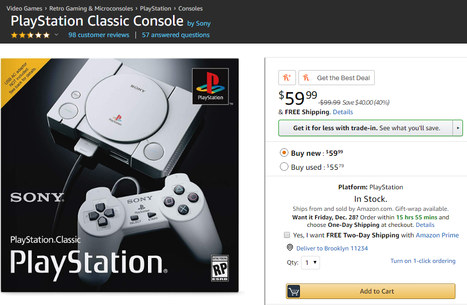 PlayStation Classic Heavily Discounted After 1-Month of Release